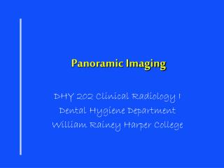 Panoramic Imaging