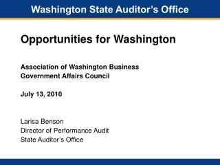 Washington State Auditor's Office
