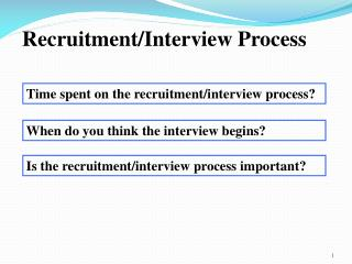 Time spent on the recruitment/interview process?