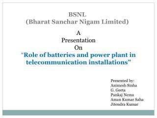 BSNL (Bharat Sanchar Nigam Limited)