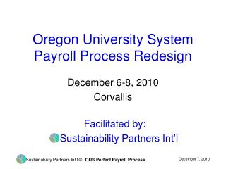 Oregon University System Payroll Process Redesign