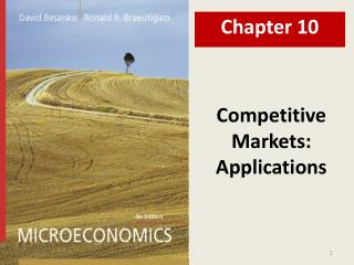 Competitive Markets: Applications
