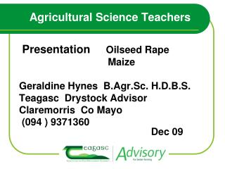 Agricultural Science Teachers