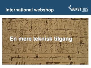 International webshop