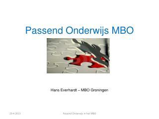 Passend Onderwijs MBO