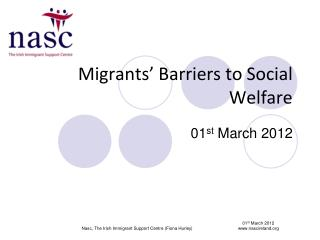 Migrants' Barriers to Social Welfare