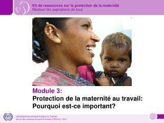 Module 3: Protection de la maternité au travail: Pourquoi est-ce important?
