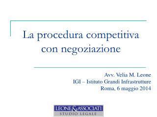 La procedura competitiva con negoziazione