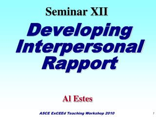 Developing Interpersonal Rapport