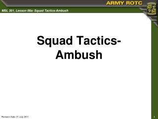 Squad Tactics- Ambush