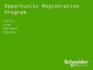 Opportunity Registration  Program
