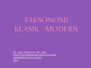 TAKSONOMI  KLASIK - MODERN