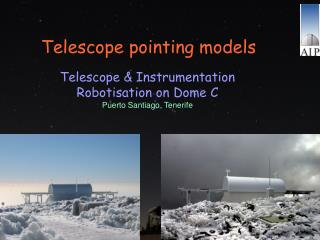 Telescope pointing models