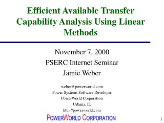 Efficient Available Transfer Capability Analysis Using Linear Methods