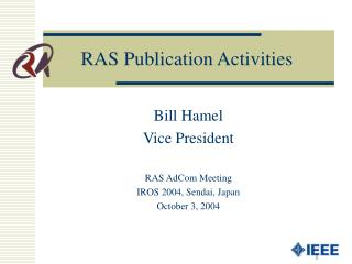 RAS Publication Activities