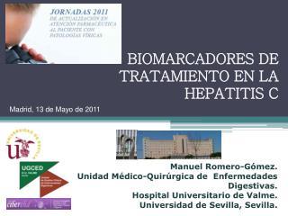 BIOMARCADORES DE TRATAMIENTO EN LA HEPATITIS C