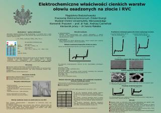 Elektrochemiczne właściwości cienkich warstw ołowiu osadzonych na złocie i RVC