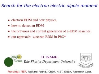 Search for the electron electric dipole moment