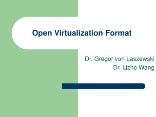 Open Virtualization Format