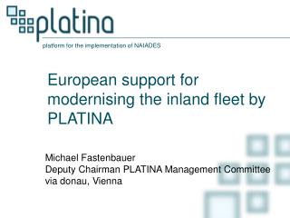 European support for modernising the inland fleet by PLATINA