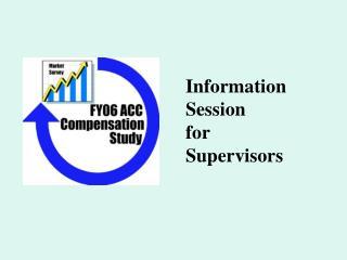 Information Session for Supervisors