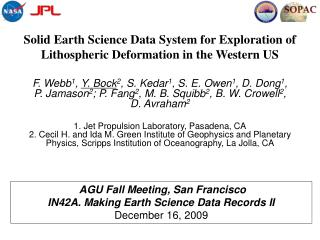 Solid Earth Science Data System for Exploration of Lithospheric Deformation in the Western US