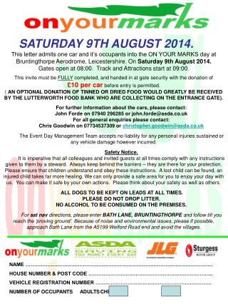 SATURDAY 9TH AUGUST 2014.
