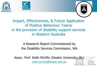 A Research Report Commissioned by  the Disability Services Commission, WA