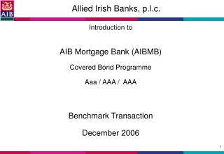 Allied Irish Banks, p.l.c.