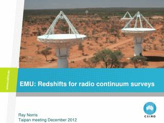 EMU:  Redshifts for radio continuum surveys