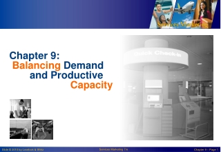 Managing Demand and Capacity Chapter 14