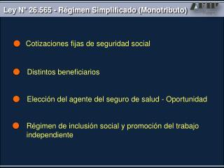 Cotizaciones fijas de seguridad social