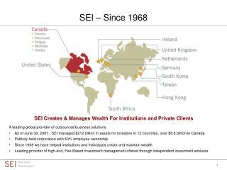 SEI – Since 1968