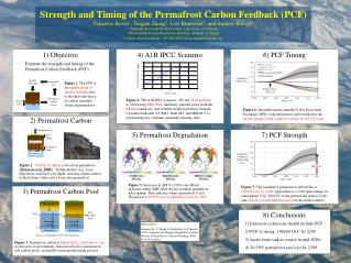 Strength and Timing of the Permafrost Carbon Feedback (PCF)