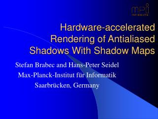 Hardware-accelerated Rendering of Antialiased Shadows With Shadow Maps