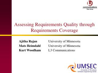 Assessing Requirements Quality through Requirements Coverage