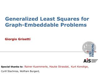 Generalized Least Squares for Graph-Embeddable Problems