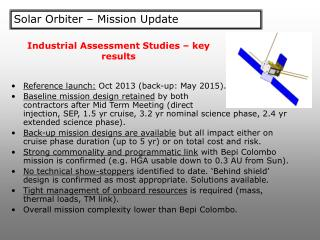 Solar Orbiter – Mission Update