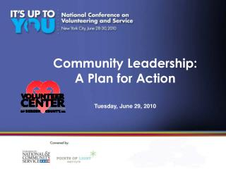 Community Leadership: A Plan for Action