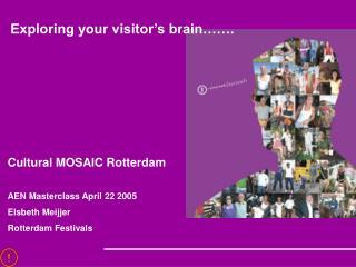 Cultural MOSAIC Rotterdam AEN Masterclass April 22 2005 Elsbeth Meijjer Rotterdam Festivals