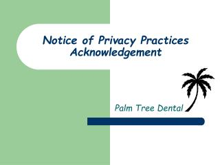 Notice of Privacy Practices Acknowledgement