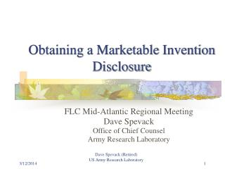 Obtaining a Marketable Invention Disclosure
