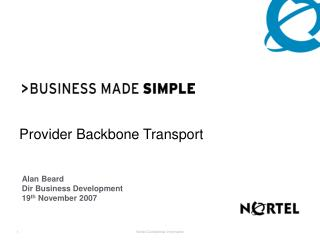 Provider Backbone Transport