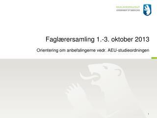 Faglærersamling 1.-3. oktober 2013