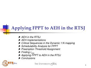 Applying FPPT to AEH in the RTSJ