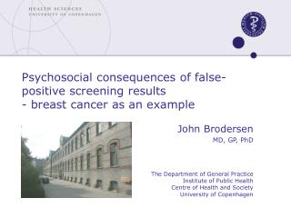 Psychosocial consequences of false-positive screening results  - breast cancer as an example