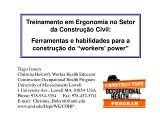 Treinamento em Ergonomia no Setor da Construção Civil: