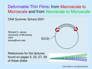 Deformable Thin Films : from  Macroscale to Microscale  and from  Nanoscale to Microscale