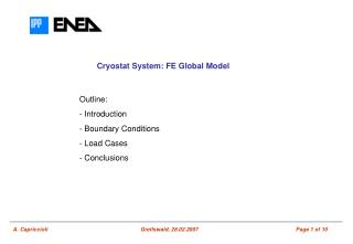 Cryostat System: FE Global Model