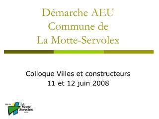 Démarche AEU  Commune de  La Motte-Servolex